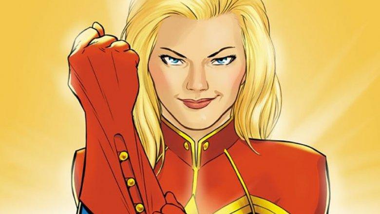 Captain Marvel comics cover