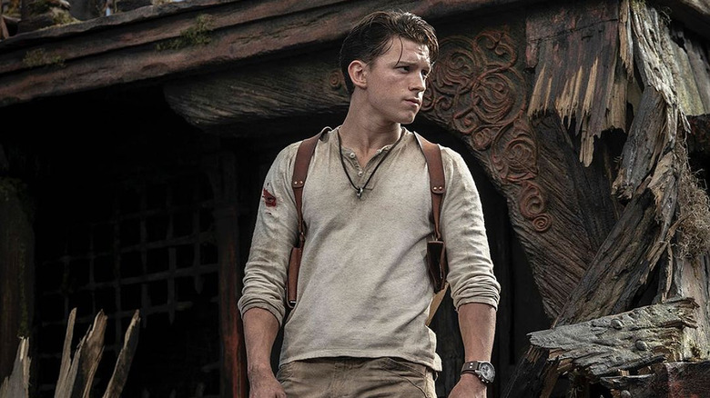 Uncharted Movie Set Photos Show Tom Holland as Nate