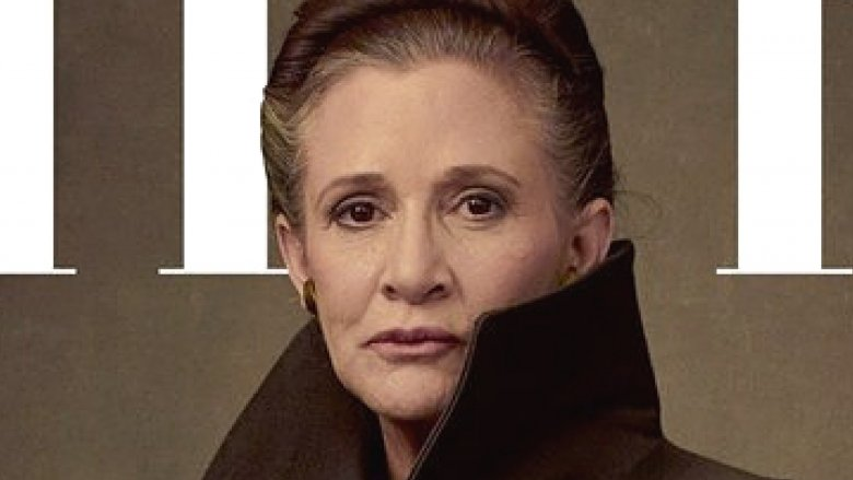 Carrie Fisher appears as Princess Leia on Vanity Fair cover