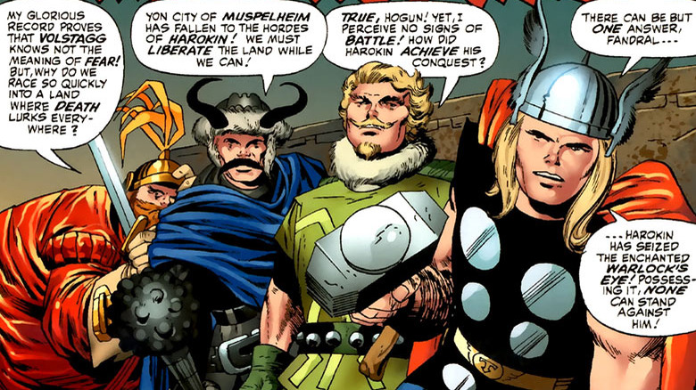 Thor and the Warriors Three
