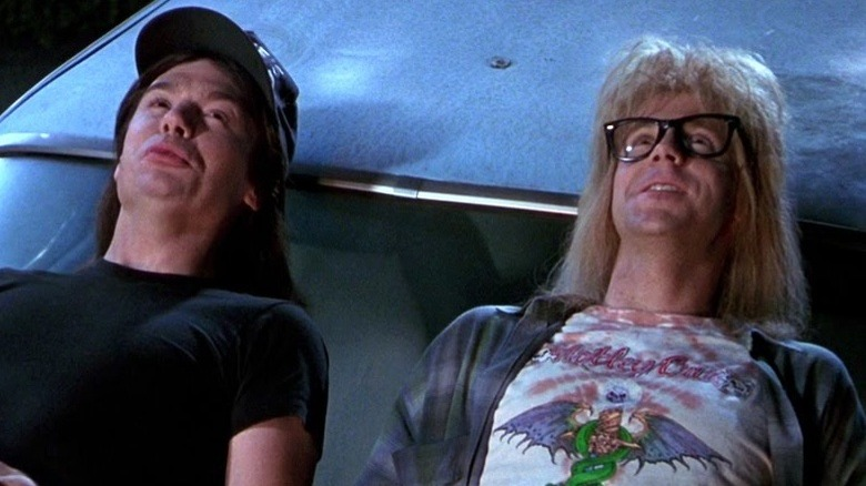 Mike Myers and Dana Carvey in Wayne\'s World