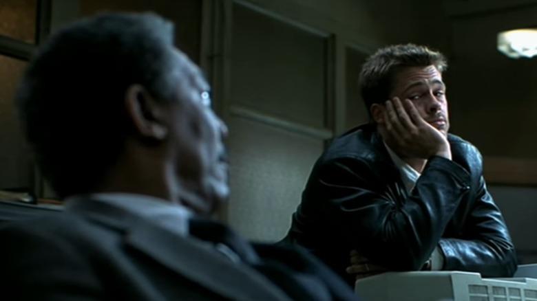 Morgan Freeman and Brad Pitt