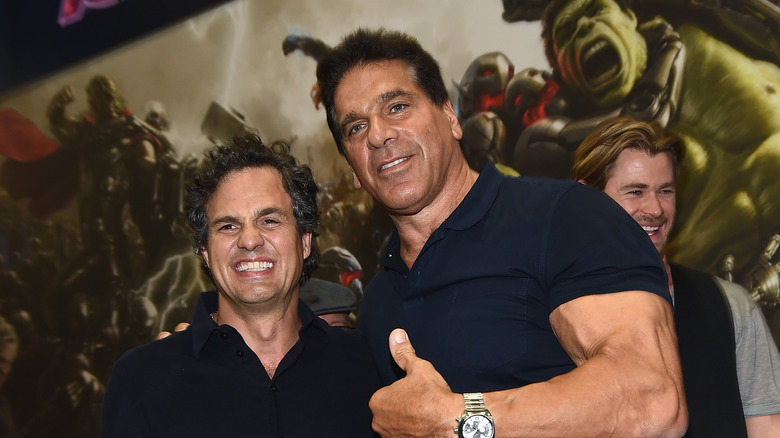 Mark Ruffalo and Lou Ferrigno