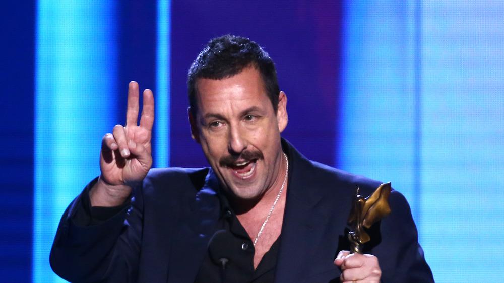 Adam Sandler accepting award