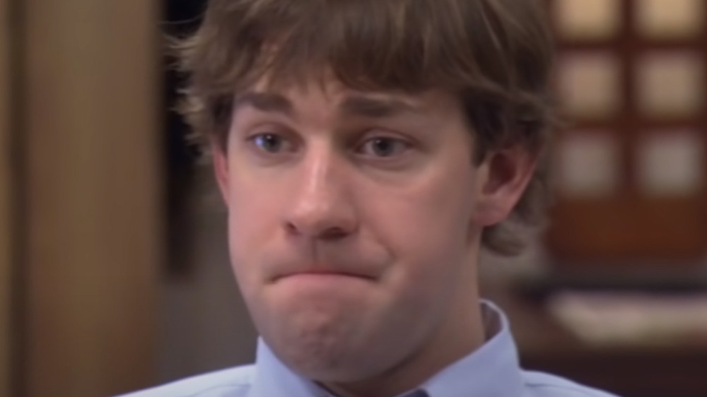 Jim making a face