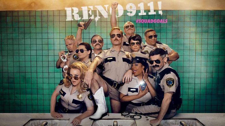 Promo art for season 7 of Reno 911!