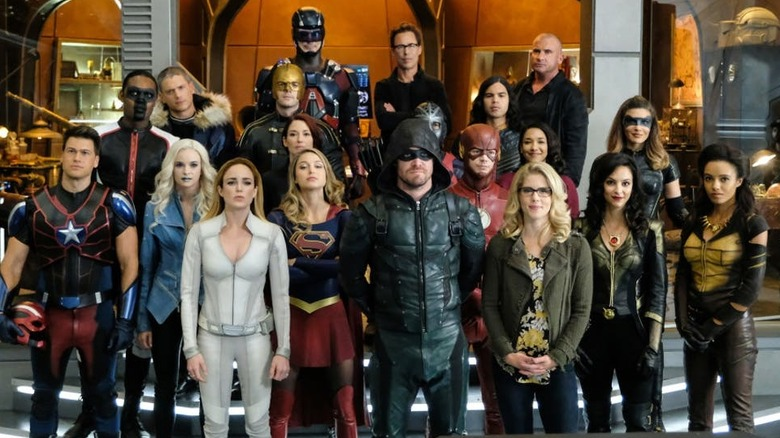 A huge gathering of Arrowverse characters