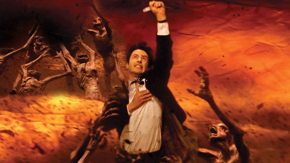 Constantine poster art featuring Keanu Reeves