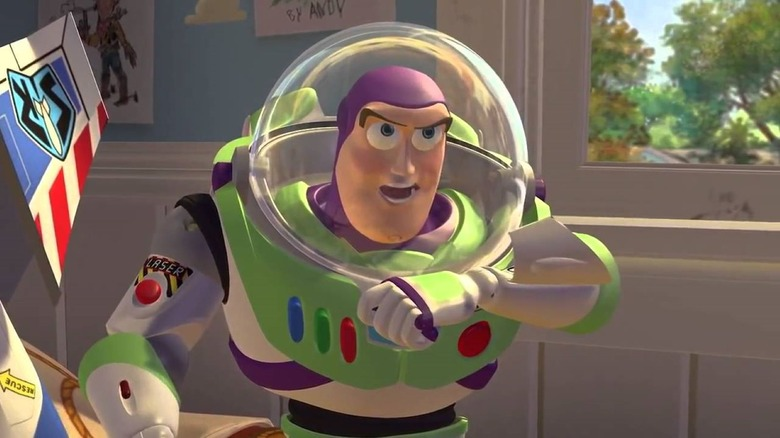 Buzz Lightyear contacting Star Command