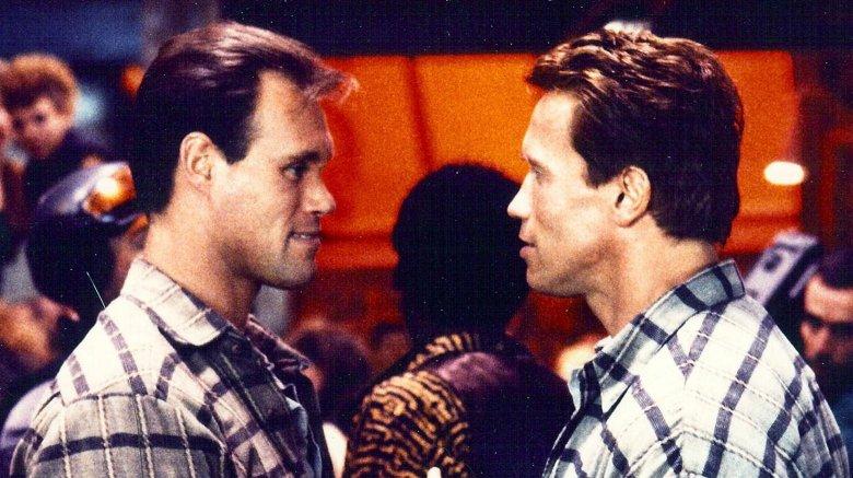 Arnold Schwarzenegger and Peter Kent