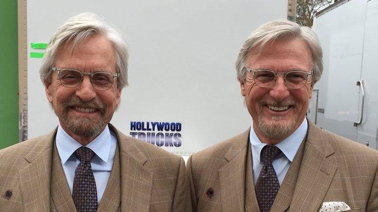 Michael Douglas and Mike Runyard