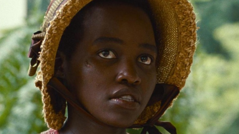 Lupita Nyong'o looks up