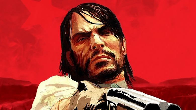 John Marston on Red Dead Redemption cover