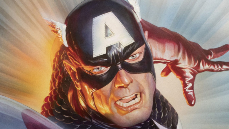 Captain America leaps into action