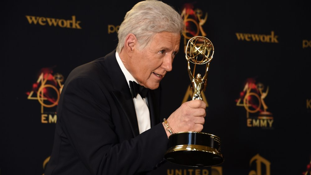 Alex Trebek at the Daytime Emmy Awards