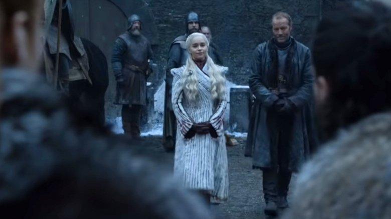 Daenerys Targaryen in HBO's Game of Thrones teaser from the Golden Globes