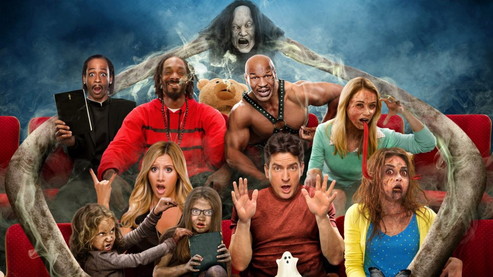 Katt Williams, Snoop Dogg, Ashley Tisdale, Charlie Sheen, and Simon Rex in Scary Movie V