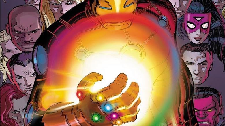 Avengers 4 Tony Stark builds his own Infinity Gauntlet