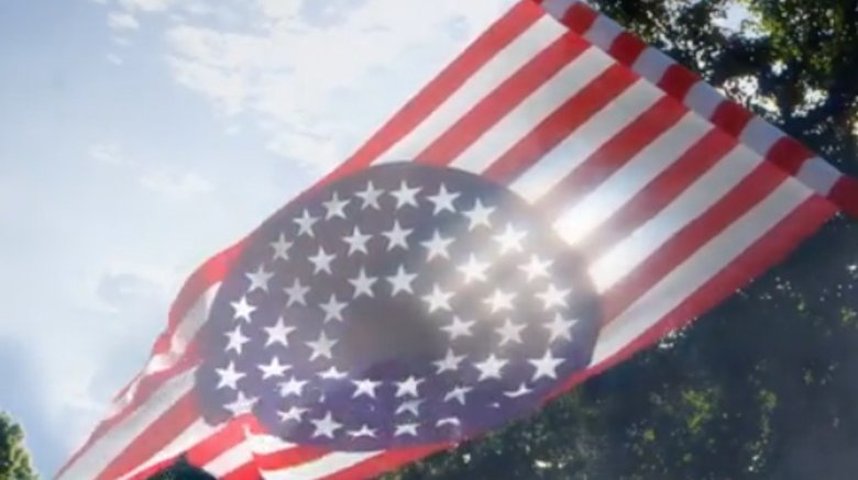An alternate American flag from the HBO Watchmen series Instagram page