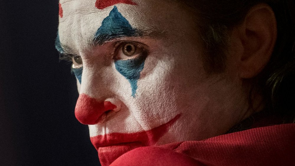 Joaquin Phoenix as Arthur Fleck in Joker intense stare