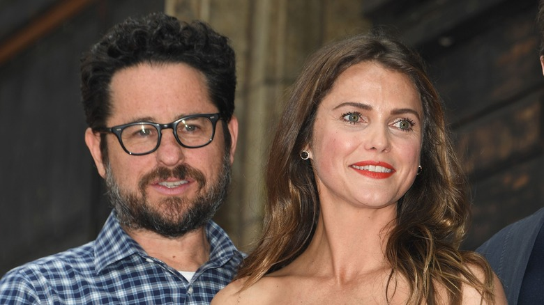 J.J. Abrams and Keri Russell