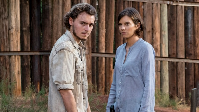 """""""Lauren Cohan and Callan McAuliffe in The Walking Dead"""""""