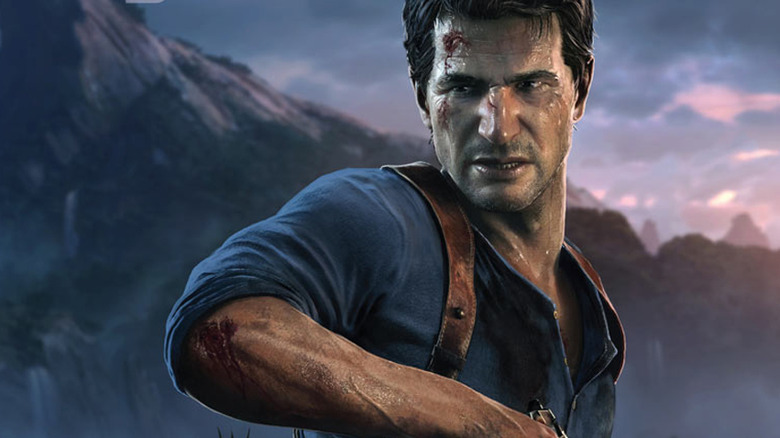 Screenshot of Nathan Drake from Uncharted 4