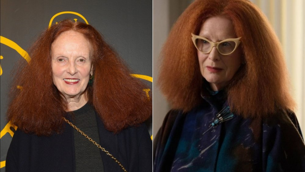 """Left: Grace Coddignton   Right: Frances Conroy as """"Myrtle Snow"""" in FX's American Horror Story: Coven"""