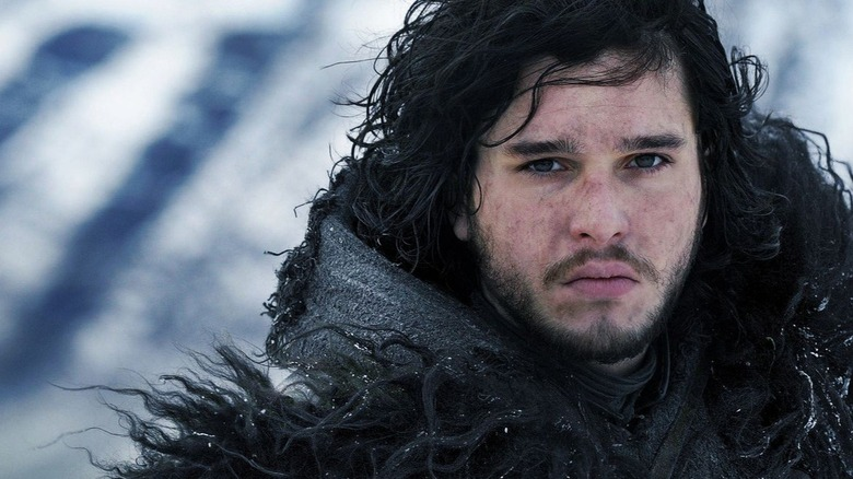 Jon Snow frowning