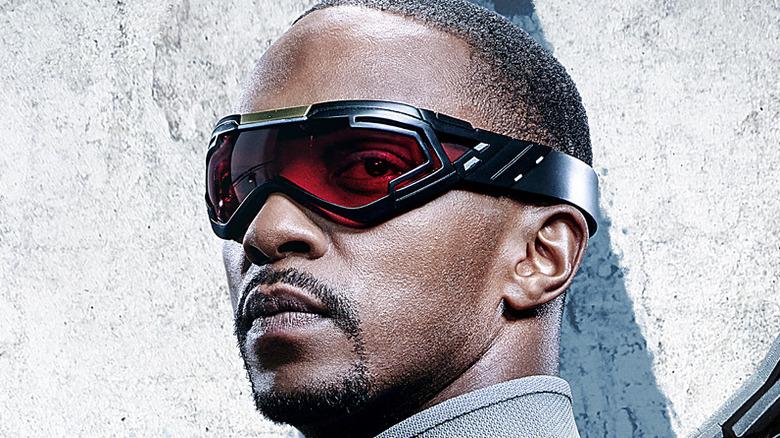 Sam Wilson wearing goggles