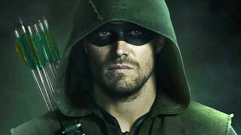 Stephen Amell as Arrow on The CW's Arrow