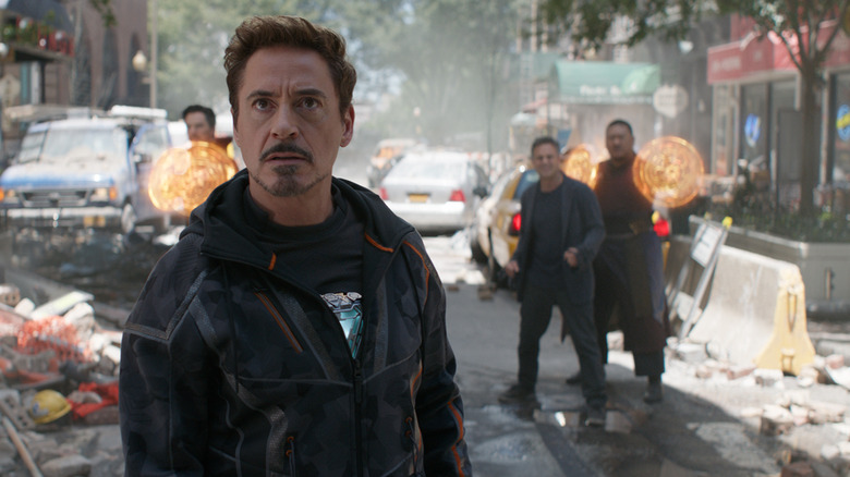 Robert Downey Jr. as Tony Stark in Avengers: Infinity War