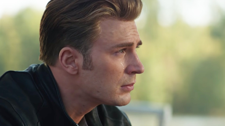 Chris Evans crying Avengers: Endgame