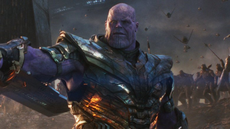 Thanos double-edged sword blade Avengers: Endgame
