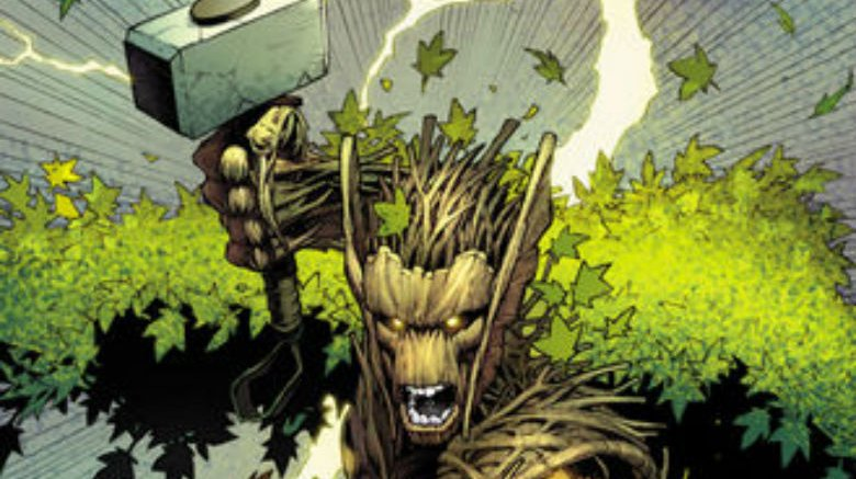 The Groot Thor from the Marvel Comics miniseries Thors