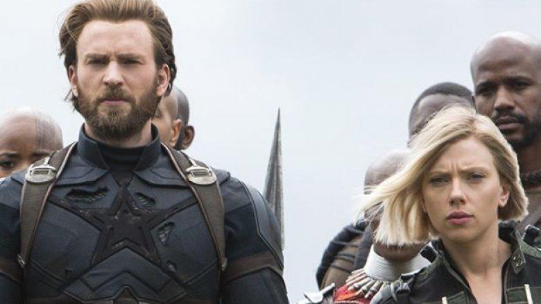 Captain America Black Widow Avengers Infinity War