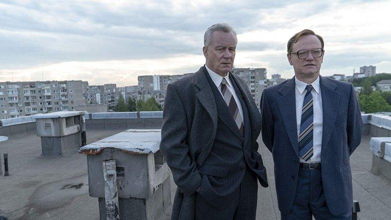 Stellan Skarsgard and Jared Harris in Chernobyl