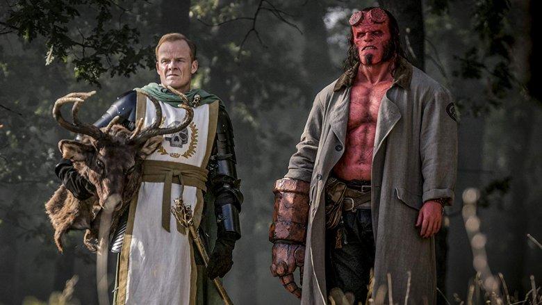 Alistair Petrie and David Harbour in 'Hellboy' (2019)