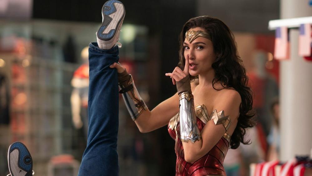 Wonder Woman shushing