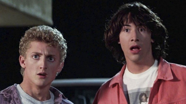 Alex Winter and Keanu Reeves in Bill and Ted's Excellent Adventure