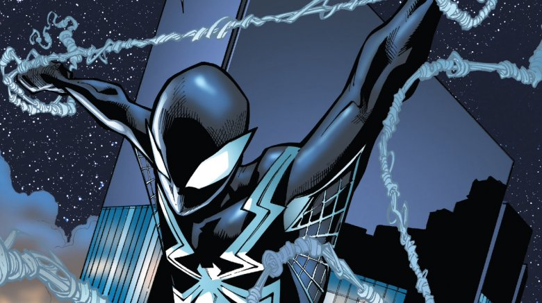 Parker back in the Venom suit in 2018's Amazing Spider-Man #800