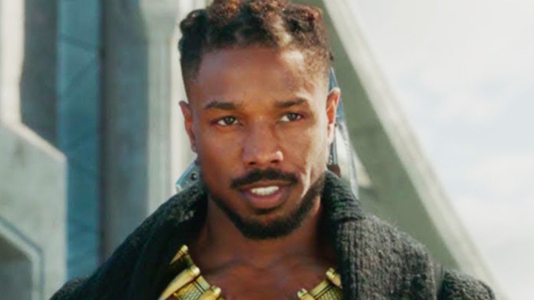 Michael B. Jordan as Killmonger in Black Panther