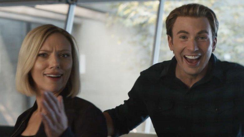 Chris Evans and Scarlett Johansson Avengers Endgame blooper reel