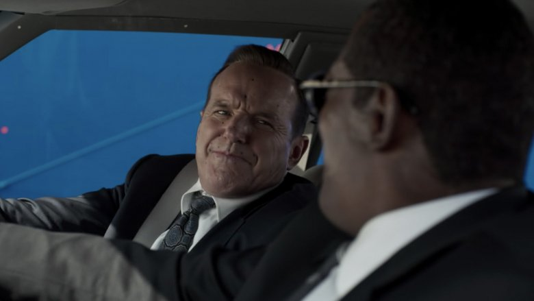 Clark Gregg and Samuel L Jackson on the Captain Marvel set