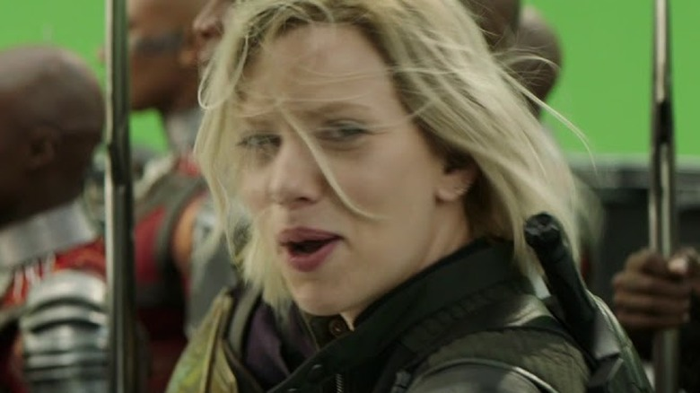 Scarlett Johansson Avengers: Infinity War blooper reel