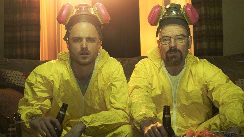 Aaron Paul and Bryan Cranston in Breaking Bad