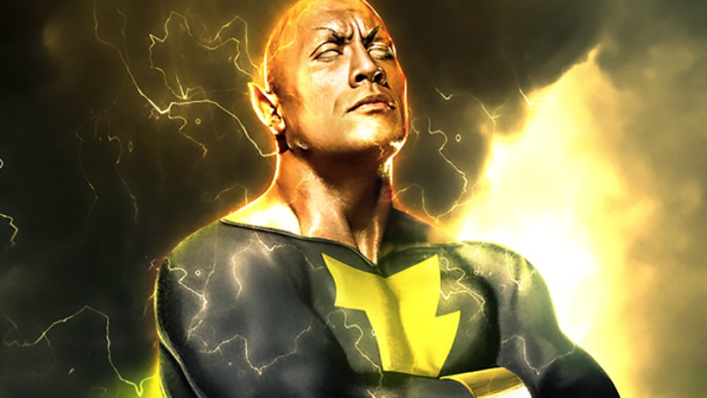 "BossLogic art depicting Dwayne ""The Rock"" Johnson as Black Adam"