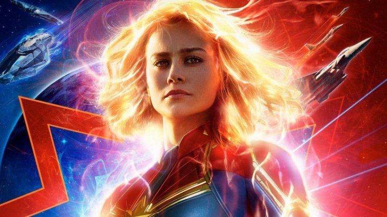 Brie Larson as Captain Marvel Carol Danvers character poster