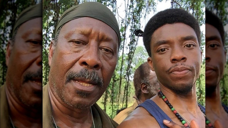 Clarke Peters and Chadwick Boseman