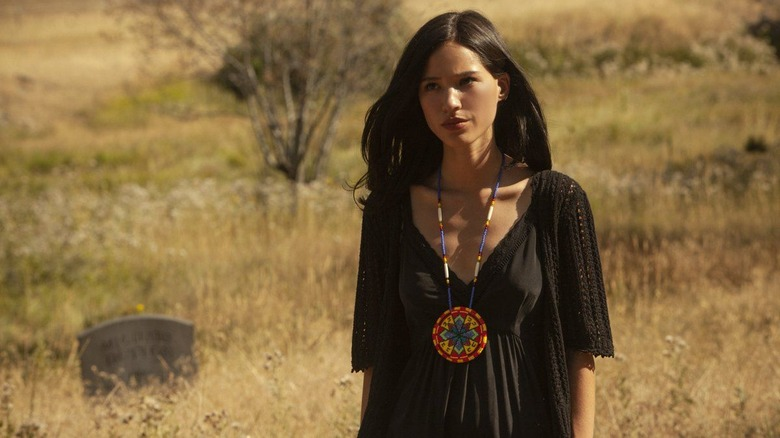 Kelsey Asbille as Monica on Yellowstone